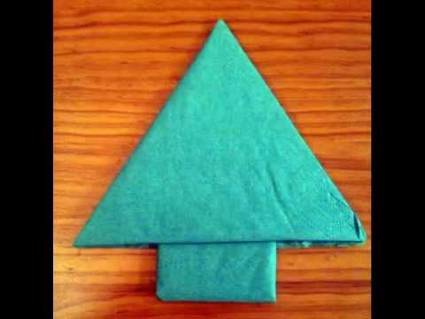 Como doblar la servilleta de tela