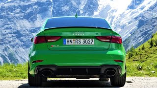 Over the Alps in a 2018 Audi RS3