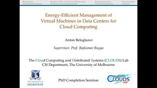 Energy-Efficient Management of Virtual Machines in Data Centers for Cloud Computing