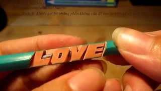 Hướng dẫn khắc bút chì kiểu chữ nghiêng