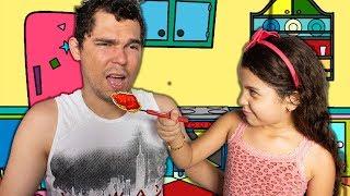 MINHA BABÁ POR UM DIA - BABÁ DO PAPAI - Pretend To Play Nanny!!