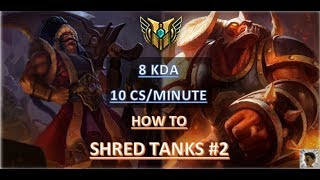 SHRED TANKS #2 Tryndamere vs Alistar Top Lane Ranked S8 League of Legends
