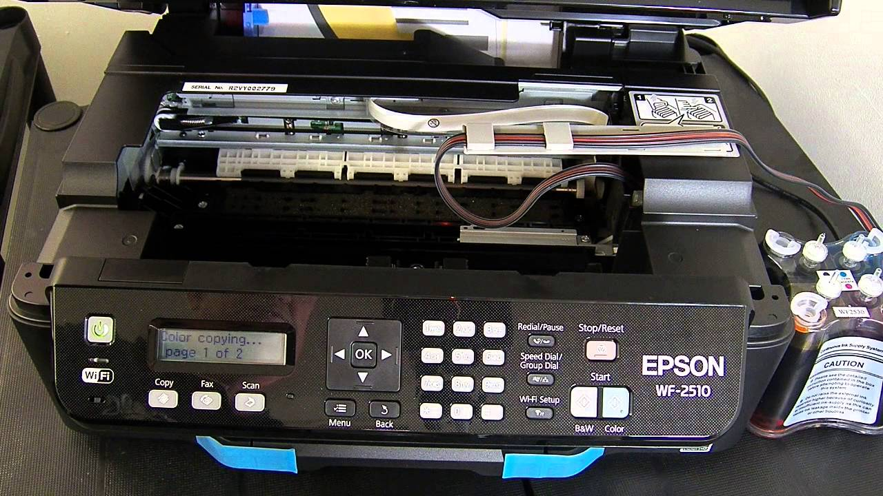 Ciss Continuous Ink System For Epson Wf 2510 Youtube