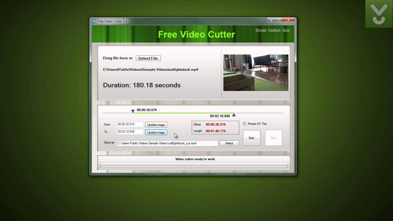 free video cutter cut videos according to your needs download video previews youtube. Black Bedroom Furniture Sets. Home Design Ideas