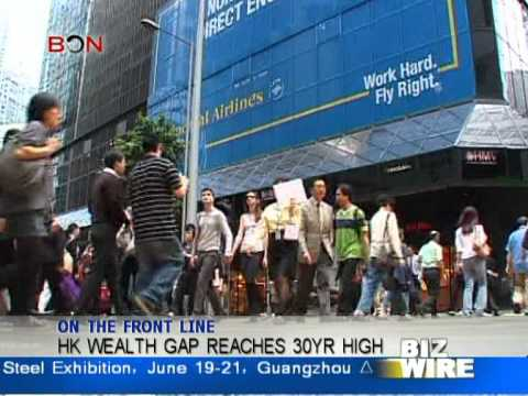 HK wealth gap reaches 30yr high - Biz Wire  June 20 - BONTV