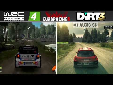 WRC 4 Vs DiRT 3   Finland Rally Stage   Graphics & Sound Comparison [HD][PC]