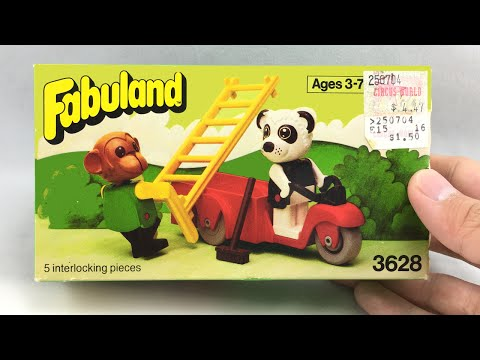 LEGO Fabuland Perry Panda and Chester Chimp set review! 1981 set 3628!