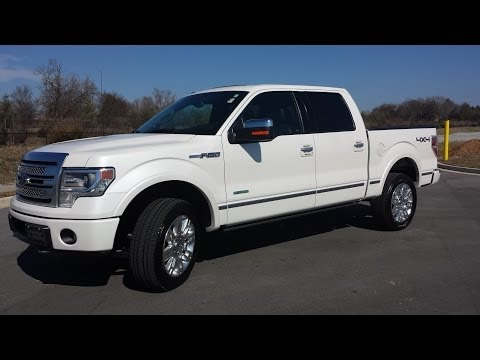 sold.2013 FORD F-150 SUPERCREW PLATINUM 4X4 3.5 ECOBOOST 13K WHITE PLATINUM CALL 855.507/8520