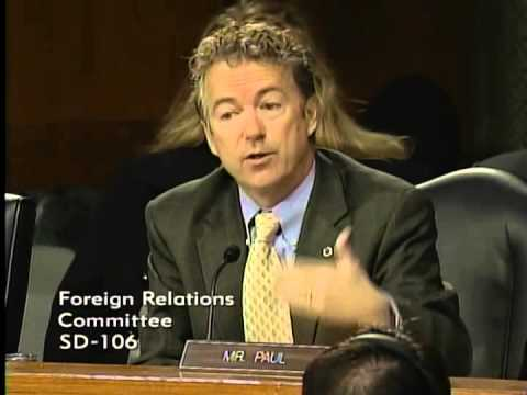 Sen. Rand Paul Questions Sec. Kerry on the Constitutional Authority to go to War with ISIS - 12/9/14