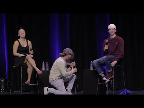 Tom Felton Proposes To Grant Gustin Live Onstage
