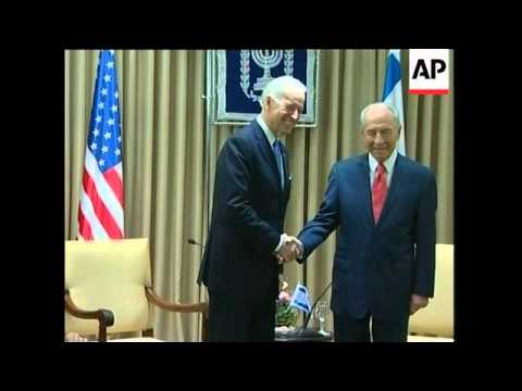 US Vice President Joe Biden meets Peres, Netanyahu
