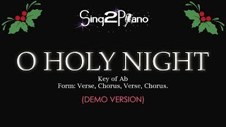 Sing2piano O Holy Night Key Of Ab Piano Karaoke Version