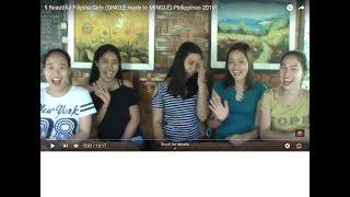 5 Beautiful Filipina Girls (SINGLE ready to MINGLE) Philippines 2019!