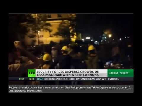 Istanbul riot police clear Gezi Park protest camp