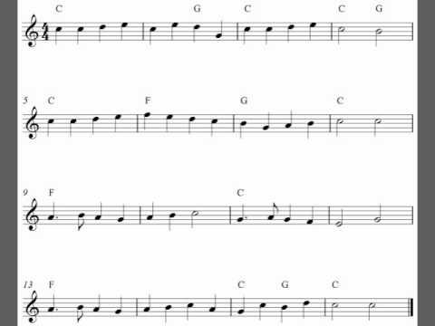 Free soprano recorder sheet music - Yankee Doodle - YouTube