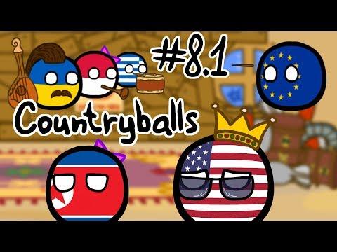 Countryballs #8.1   Дуэт США и КНДР (Северной Кореи)