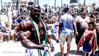 Kali Muscle Hanging at Beach w/ Strength Project