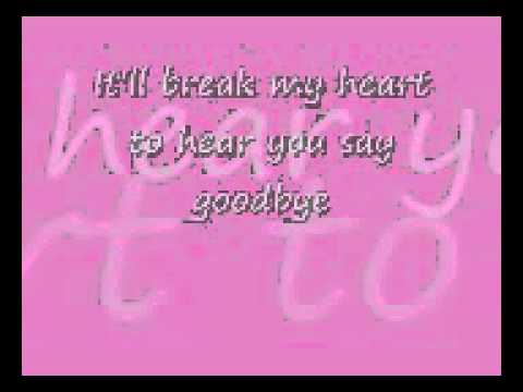 Celine Dion-goodbye's The Saddest Word (lyrics) video