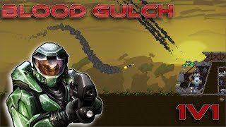 HALO Blood Gulch in Forts! (Community Map 1v1 Battle) - Forts RTS [74]