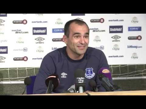 Roberto Martinez's pre-Manchester United press conference