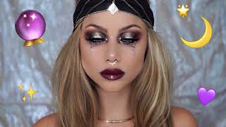 fortune teller makeup tutorial | Halloween costume | beeisforbeeauty