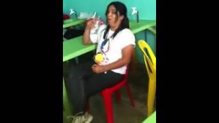 Water fight inside da room :D