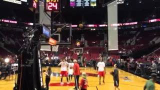 LaMarcus Aldridge Shoot Around 2014 Playoff Game 4
