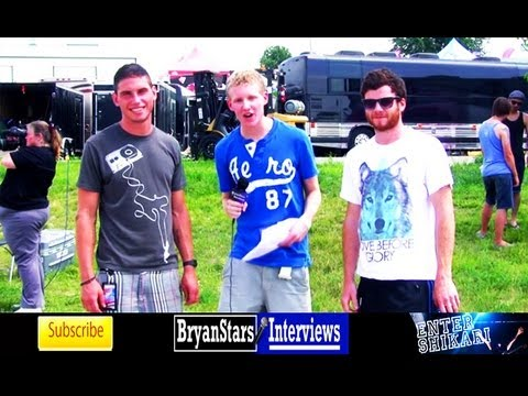 Enter Shikari Interview #2 Rory Clewlow & Rob Rolfe Warped Tour 2011