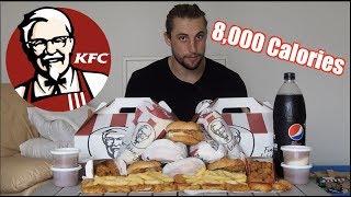 Double KFC Family Burger Box Challenge! (8,000 calorie Food Challenge)
