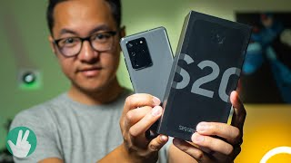Galaxy S20 Ultra Unboxing and Impressions (filmed with Galaxy Z Flip!)