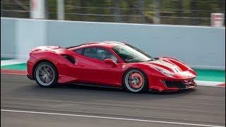 Ferrari 488 Pista on track -  Flat Out, Revs, Maximum Attack and more!!