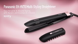 Introducing Panasonic Multi-Styling Hair Straightener| EH-HV70