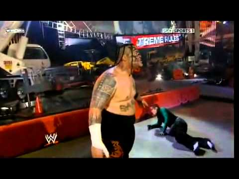 Jeff Hardy Vs Umaga Falls Count Anywhere Extreme Rules video