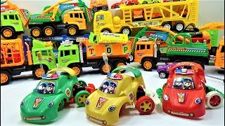How to dismantle the super police car toys collections for kids, car toys and truck toys