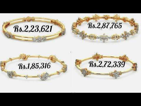 Latest Diamond Bangle Designs with Price