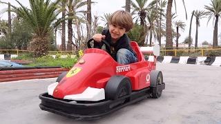 Ferrari Car Toy Fun Ride and Family Zoo Visit