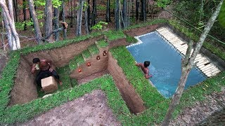 Building Secret Ancient Underground House And Impressive Swimming Pool