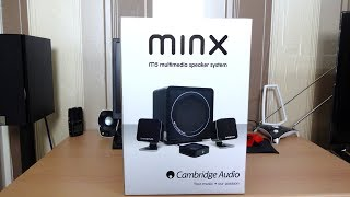 Cambridge audio minx m5 unboxing and demo