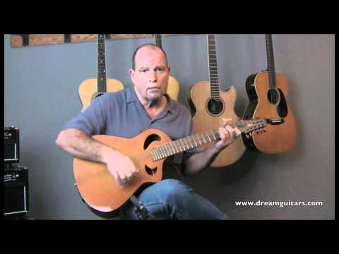 Veillette Terzilla 12 String Acoustic Terz played by Steve James at Dream Guitars