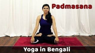 Padmasana in Bengali For Beginners | Lotus Pose | Hips Exercise | Yoga For Weight Loss | Bangla Yoga