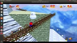 Super Mario 64-Estrella 15-Pingüino Perdido-El Monte Nevado