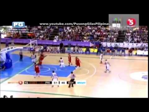 Andray Blatche Insane Behind the back Pass to Marc Pingris.