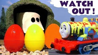 Thomas & Friends Toy Train Stories with Ghost In The Tunnel and fun colors for kids & children TT4U
