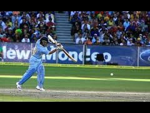 Sachin Tendulkar dangerous straight drive