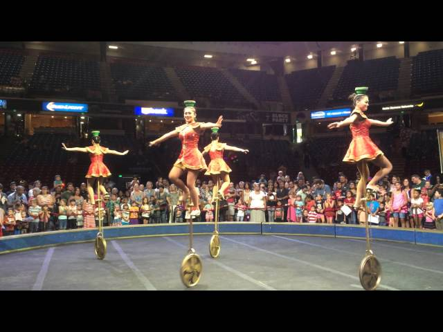 China National Acrobatic Troupe Unicycle -Ringling Bros. All access pre-show in Sacramento