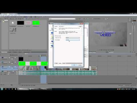 Sony Vegas Tutorials -  1.9 - Exporting formats and bitrates explained