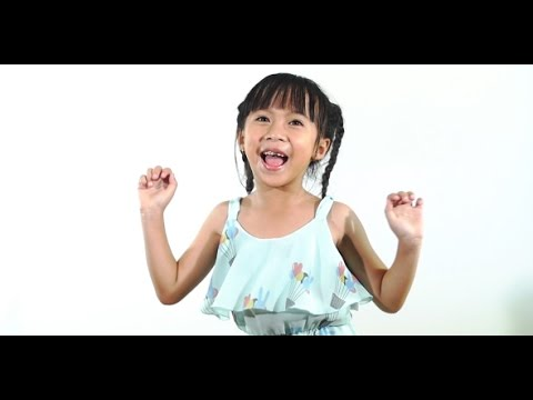 Happy Little Asian Child Dancing | Stock Footage