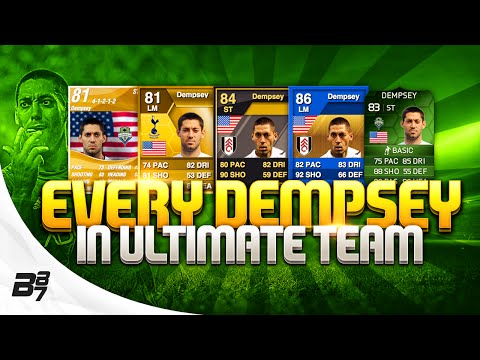 EVERY CLINT DEMPSEY CARD ON ULTIMATE TEAM!