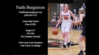 Faith Bergstrom (2021) 2018-2019 Girls High School Basketball Season Highlights