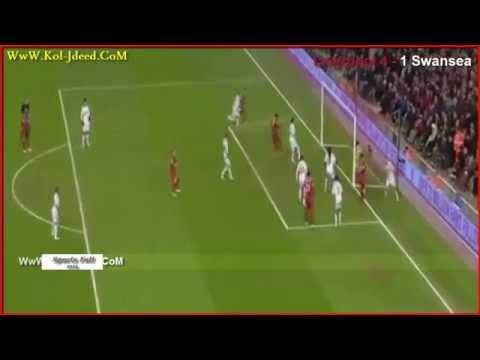 Liverpool vs Swansea City 4-1 Goal Adam Lallana & Amazing Fail Fabianski 2014 HD